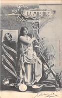 LES ARTS ( Série Les Arts 1900 ) La MUSIQUE - CPA Précurseur N° 2 - - Arts
