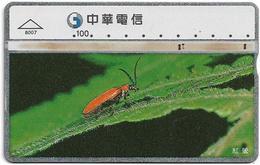 Taiwan - Chunghwa Telecom - LG - Bugs, Insects & Arthropods - Bug - 841H - 1997, 100U, Used - Taiwan (Formosa)