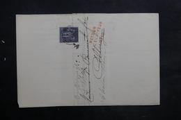 FRANCE - Lettre De Chalon / Saône Pour Allerey En 1884 Et Retour, Affranchissement Sage 1ct - L 35242 - Marcophilie (Lettres)