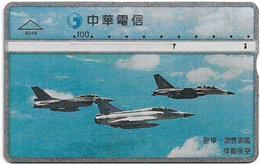 Taiwan - Chunghwa Telecom - Air Force - 828E - 1998, 100U, Used - Taiwan (Formosa)