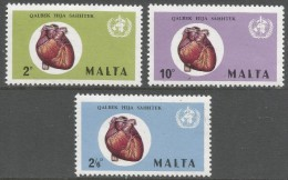 Malta. 1972 World Health Day. MH Complete Set. SG464-466 - Malta