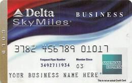 American Express Delta SkyMiles Business Sample Card (blank Reverse) - Krediet Kaarten (vervaldatum Min. 10 Jaar)