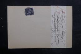 FRANCE - Lettre De Chalon / Saône Pour Allerey Et Retour, Affranchissement Sage 1ct - L 35246 - Marcophilie (Lettres)
