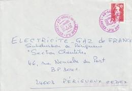 """Lettre De """"Mont-de-Marsan R.P."""" (Landes, 40) Du 06-03-1990 Pour Périgueux (Dordogne-24) - Poststempel (Briefe)"""