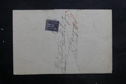 FRANCE - Lettre De Chalon / Saône Pour Bragny En 1884 Et Retour, Affranchissement Sage 1ct - L 35247 - Marcophilie (Lettres)