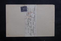 FRANCE - Lettre De Chalon / Saône Pour Verdun Sur Saône Et Retour, Affranchissement Sage 1ct - L 35250 - Marcophilie (Lettres)