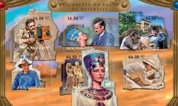 Mozambique, 2011. [moz12107] Discovery Of The Bust Of Nefertiti, Egypt (s\s+block) - Egyptologie