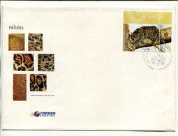 HUIÑA FELIDOS, FELINOS FELINES FELINS. ARGENTINA AÑO 2001 SOBRE PRIMER DIA ENVELOPE FDC - LILHU - Felinos