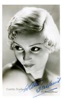 Spectacle - 14126 - Son Nom D'artiste COLETTE DARFEUIL Ou  Augustine Floquet 1906 - 1998 Autographe Photo Manuel - Artiesten