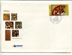 JAGUARUNDI, FELINOS FELINES FELINS. ARGENTINA AÑO 2001 SOBRE PRIMER DIA ENVELOPE FDC - LILHU - Felinos