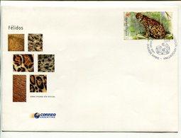 OCELOTE, FELINOS FELINES FELINS. ARGENTINA AÑO 2001 SOBRE PRIMER DIA ENVELOPE FDC - LILHU - Felinos