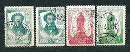 USSR, 1937; Lot Of 4 Used Stamps From Set MiNr 549-554: 550, 553, 554 - 1923-1991 URSS