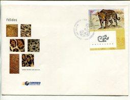 YAGUARETE, FELINOS FELINES FELINS. ARGENTINA AÑO 2001 SOBRE PRIMER DIA ENVELOPE FDC - LILHU - Felinos