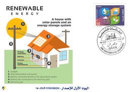 DZ Algeria 1727/8 FDC Renewable Energies Solar Energy Sun - Sciences