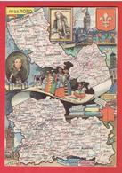 DEPARTEMENT DU NORD CARTE GEOGRAPHIQUE SIGNEE J.P. PINCHON CARTE EN TRES BON ETAT - Unclassified