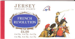 Jersey 1989 French Revolution-Mi 485-490 In Booklet O-31, MNH(**) - Jersey