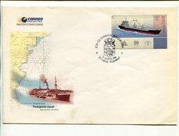 TRASPORTE NAVAL, ARA CABO DE HORNOS BARCO SHIP BOAT BATEAU ARGENTINA AÑO 2004 SOBRE PRIMER DIA ENVELOPE FDC - LILHU - Barcos