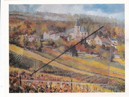Hautvillers (51)Le Vignoble Champenois En Automne. Illustration Couleur:peinture à L'huile De Roland IROLLA - Peintures & Tableaux
