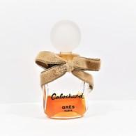 Miniatures De Parfum  CABOCHARD De GRÈS  7.5  Ml  Bouchon Verre  + Nœud Velours Gris Hauteur  Totale  6.5 Cm - Modern Miniatures (from 1961)