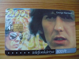 Phonecard Hungary - George Harrison, Beatles 50.000 Ex - Hungary