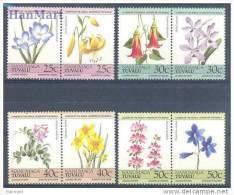 F3300- Set MNH Tuvalu Nanumaga 1985: Blumen/Flowers - Planten