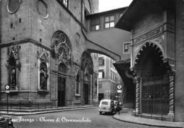 "4721 "" FIRENZE-CHIESA DI ORSANMICHELE "" FIAT 500 GIARDINIERA- CART. POST. OR. SPED.1962 - Saluti Da.../ Gruss Aus..."