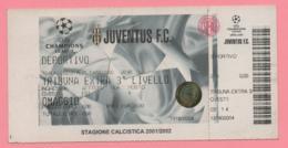 Biglietto Ingresso Stadio Juventus 2002 - Biglietti D'ingresso