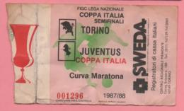 Biglietto Ingresso Stadio Torino Juventus 1987 - Tickets D'entrée