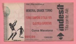 Biglietto Ingresso Stadio Memorial Grande Torino 1988 - Biglietti D'ingresso
