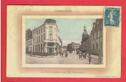 ARMENTIERES 1912 LA RUE DE LILLE A LA RUE NATIONALE CARTE EN BON ETAT - Armentieres