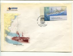 TRANSPORTE NAVAL A.R.A. BAHIA THETIS, BARCO, BOAT, SHIP, BATEAU ARGENTINA AÑO 2004 SOBRE PRIMER DIA ENVELOPE FDC - LILHU - Barcos