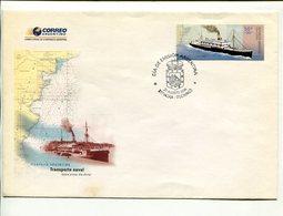 TRANSPORTE NAVAL A.R.A. PAMPA, BARCO, BOAT, SHIP, BATEAU ARGENTINA AÑO 2004 SOBRE PRIMER DIA ENVELOPE FDC - LILHU - Barcos