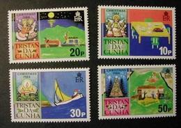 TRISTAN DA CUNHA 1984 - NAVIDAD CHRISTMAS NOEL - Yvert Nº 362/365 - Tristan Da Cunha