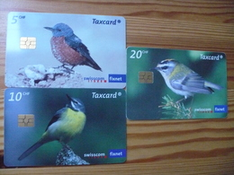 Phonecard Set Switzerland - Bird - Svizzera