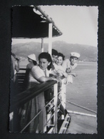 1957 ANIMATA FEMME DONNA WOMAN MARINAI SUL VAPORE DI RITORNO DALL'ISOLA D'ELBA - BATTELLO BATEAU SHIP NAVIRE - Barche