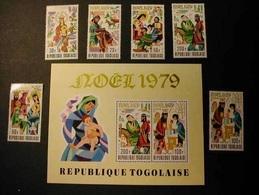 TOGO  1979 - NAVIDAD - CHRISTMAS NOEL - Yvert  Nº 968/970** + A401/403** + BLOCK Nº 133** - Togo (1960-...)