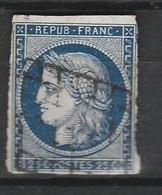 FRANCE CERES 1850 YT N° 4 Obl. GRILLE - 1849-1850 Cérès