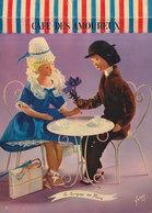 LES AMOUREUX DE PEYNET  N° 43  Langage Des Fleurs : Bleuet  ///   REF  JUILLET .19  //   N° 9153 - Peynet