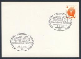 Deutschland Germany 1972 Karte Card - 125 Jahre Eisenbahn Bremen - Hannover - Briefmarken Regionaltauschtag, Bremen - Treinen