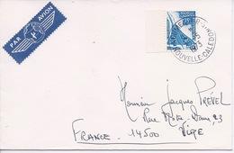 NOUVELLE CALEDONIE - PA 139 CONCORDE EMIS EN CARNET SUR LETTRE PAR AVION POUR VIRE (CALVADOS) FRANCE - Briefe U. Dokumente