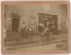 Photo Collée Sur Carton - Boutique Beraud Et Ferrailleur Chaudronnier 1907 - Shops