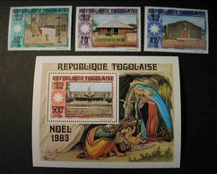 TOGO  1983 - NAVIDAD - CHRISTMAS NOEL - Yvert  Nº 1095** + A494/495** + BLOCK Nº 176** - Togo (1960-...)