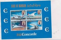 BARHEIN - BLOC CONCORDE OBL USED SUR ENVELOPPE - Bahreïn (1965-...)