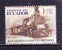 ECUADOR 2006 TRAIN COMMONWEALTH OF RAILWAY MUNICIPALITIES ONE DOLLAR MNH SC# 1806 - Trains