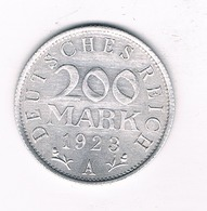 200 MARK 1923 A  /DUITSLAND /5462/ - [ 3] 1918-1933 : Weimar Republic
