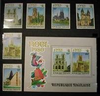TOGO  1980 - NAVIDAD - CHRISTMAS NOEL - Yvert  Nº 1008/1010** + A436/43**8 + BLOCK Nº 145** - Iglesias Y Catedrales