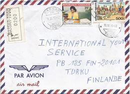 Togo 1996 Bassar TRI No1 UPU Postal Day Markets Registered Cover - Togo (1960-...)