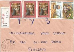 Togo 1988 Niamtougou 2 Christ Presentation At The Temple Markets Registered Cover - Togo (1960-...)