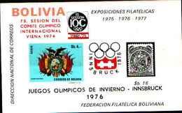 5934BIS ) Bolivia - Innsbruck Olympic Games  Souvenir Sheet (1976) -MNH** - Bolivia