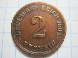 2 Pfennig 1905 (A) - [ 2] 1871-1918 : German Empire